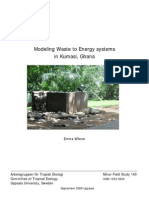 Modeling Waste to Energy Systems