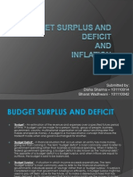 Budget Surplus and Deficit