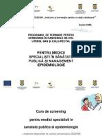 Sanatate Publica Si Management - Epidemiologie