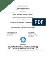 STR SMC Insurance on Job Satisfaction MBA