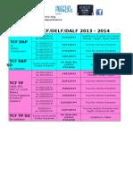 Calendrier Final DELF DALF TCF 2013 2014 Bis