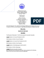 Medford City Council meeting Tuesday, January 7, 2014