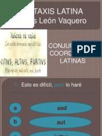 JUEGO DE LAS CONJUNCIONES COORDINANTES EN LATÍN