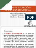 ESTADOS DE EXCEPCIÓN Y ORDEN CONSTITUCIONAL