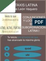 JUEGO DE CONJUNCIONES SUBORDINANTES EN LATÍN