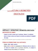 08 02 2012 t1 Capitulo 1 Estrutura y Geometrc3ada Cristalina