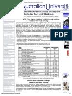 Rankings of Australian Universities 2013-2014
