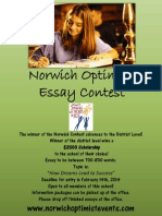 2014 Norwich Optimist Essay Contest