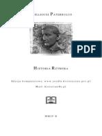 Wellejusz Paterkulus - Historia Rzymska