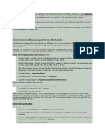 Exchange 2010 Setup and Prerequisites