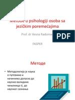 Metode u Psihologiji Osoba Sa Jezickim Poremecajima