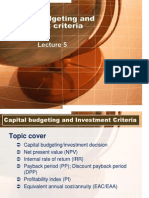 Fund.finance Lecture 5 Investment Decision 2012