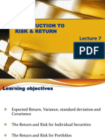 Fund.finance_Lecture 7_Intro to Risk & Return