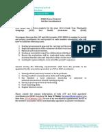 IPSF EMRO Projects Coordinator Call 2013-14