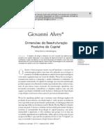 Dimensões da reestruturação produtiva do capital Giovanni Alves