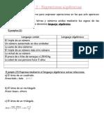 teoria expresiones algebraicas