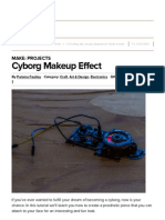 cyborg makeup effect   make