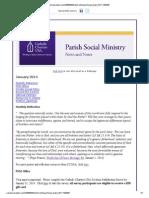 January 2014 CCUSA Parish Social Ministry News and Notes