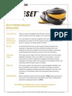 Angleset Keys to Proper Installation