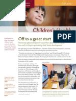 Julie Kendrick for Children's Health Newsletter