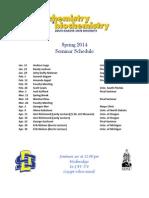 Seminar Schedule SP14