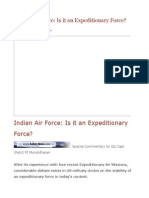 Indian Air Force is It an Expeditionary Force