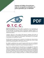 Sobre los Lineamientos de Política Sectorial para prevenir y enfrentar la corrupción en el Sector y el Plan Anticorrupción aprobados por el MINEDU