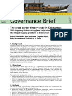 The cross border timber trade in Kalimantan
