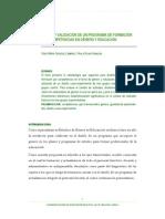 Diseño y validación de un programa de formación por competencias de genero y educacion