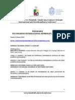 Programa Congreso Humboldt 2014