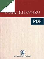 2013 TDK Yazim Kilavuzu