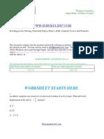 AP Physics B, AP Physics C Worksheet