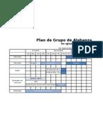 Plan de Grupo de Alabanza - Tabla