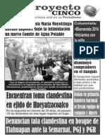 Informativo Proyecto 5 del 03 de enero del 2014