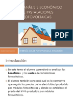 UT11. Analisis Economico de Las Instalaciones Fotovoltaicas