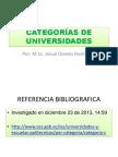 CATEGORÍAS DE UNIVERSIDADES