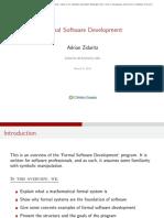 Formal Software Development Program