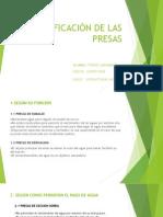 CLASIFICACIÓN DE LAS PRESAS