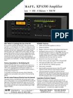 KPA500 Datasheet 2011 V1b