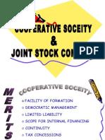 cooperative society & joint stock company