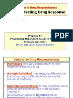 Faktor Yang Mempengaruhi Respon Obat