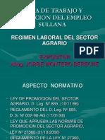 Regimen Laboral Agrario