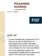7 - AMPLIFICADORES OPERACIONAIS