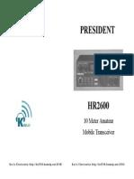 HR2600 Manual