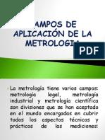 CAMPOS DE APLICACIÓN DE LA METROLOGIA