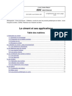 Le Ciment Et Ses Applications