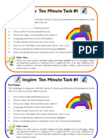 Ten Minute Tasks