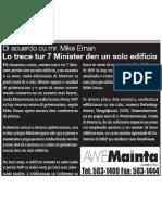 Mike Eman - Lo Trece e 7 Ministernan den Un Edificio - Awemainta
