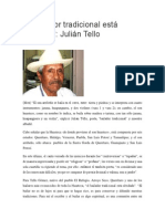 El bailador tradicional está olvidado,  Julián Tello