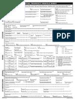 Trend Profile Sheet